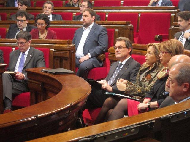 Artur Mas, en el debate de investidura