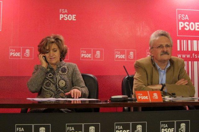 María Luisa Carcedo y Antonio Trevín