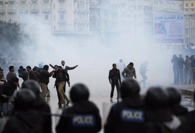 Nuevos enfrentamientos en Alejandría a causa de Mursi