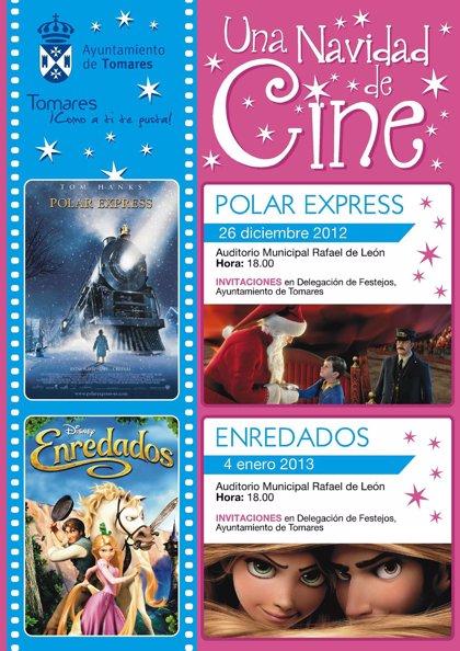 El Auditorio de Tomares proyectará gratuitamente en Navidad las cintas infantiles 'Polar Express' y 'Enredados'