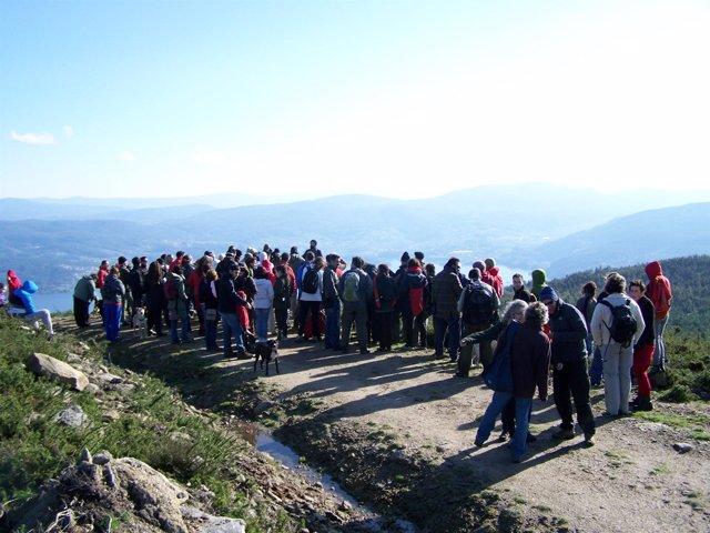 Ruta contra el parque eólico de O Morrazo