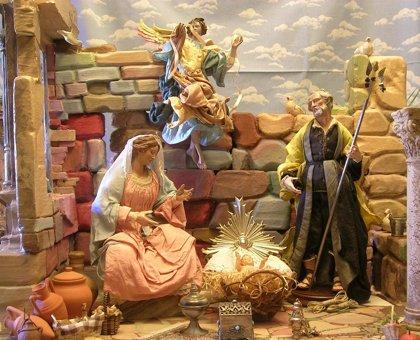 Un Belén clásico de inspiración mediterránea y con figuras napolitanas se puede visita en al Casa Zorrilla de Valladolid
