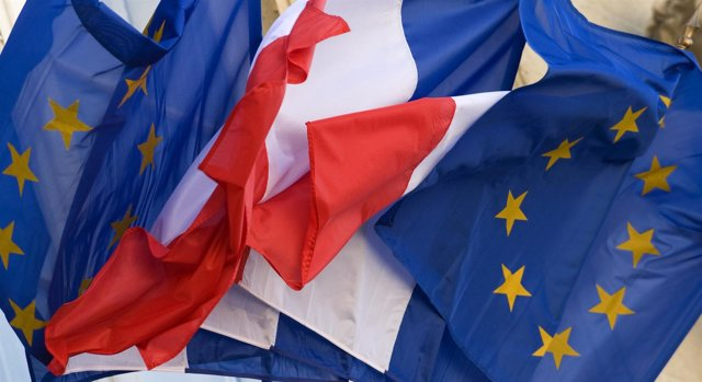 Recurso De La Bandera De Francia Y La Unión Europea