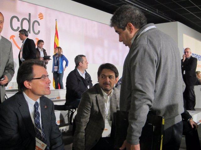 Artur Mas, Francesc Homs Y Oriol Pujol