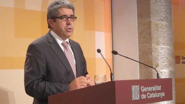 Francesc Homs, en rueda de prensa tras el Consell Executiu