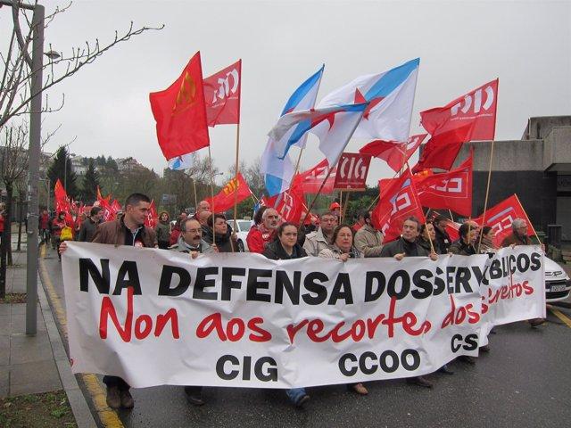 Foto Protesta Funcionarios