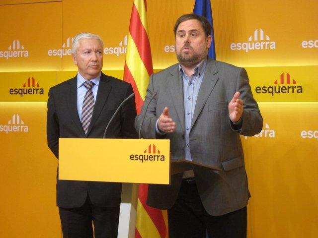 Antoni Abad (Cecot) y Oriol Junqueras