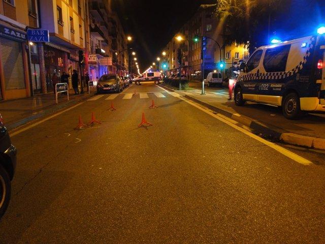 Imagen del lugar del suceso, en la avenida de Villava de Pamplona.