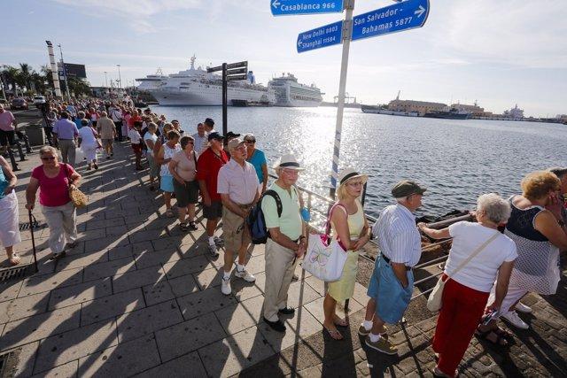 Cruceristas en Las Palmas de Gran Canaria