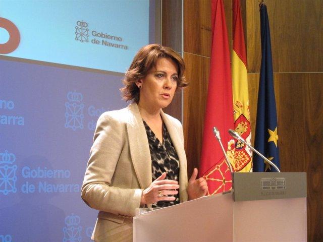 La presidenta del Gobierno de Navarra, Yolanda Barcina.