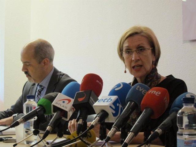 Diego Paños y Rosa Díez en rueda de prensa.