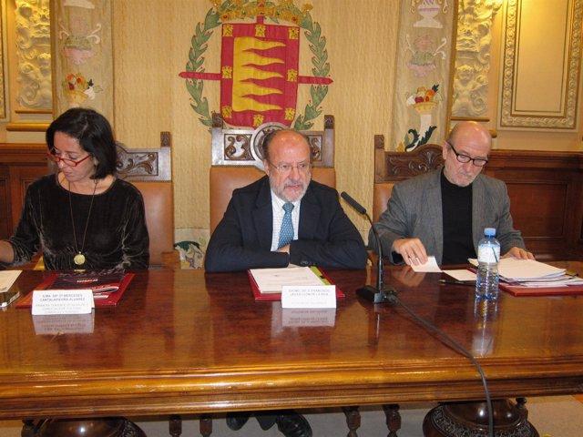 Cantalapiedra, León de la Riva y Javier Angulo.