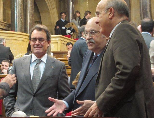 Artur Mas, Andreu Mas-Colell Y Boi Ruiz