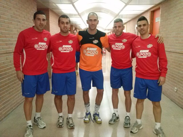 Adri, Miguelín, José Ruiz, Rafa y Alex