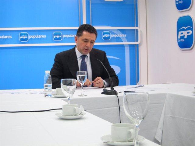 El secretario general del Partido Popular de La Rioja, Carlos Cuevas