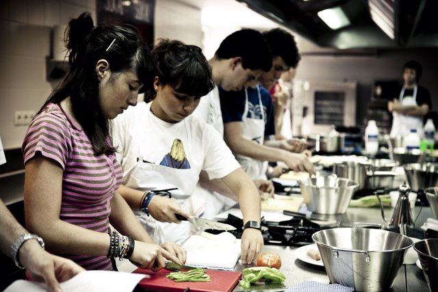 Jovenes en talleres del Basque Culinary Center