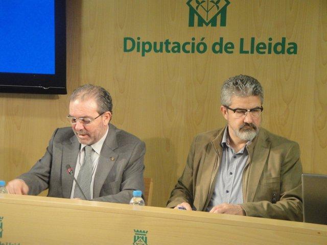 Joan Reñé y Josep Maria Roigé, Diputación de Lleida