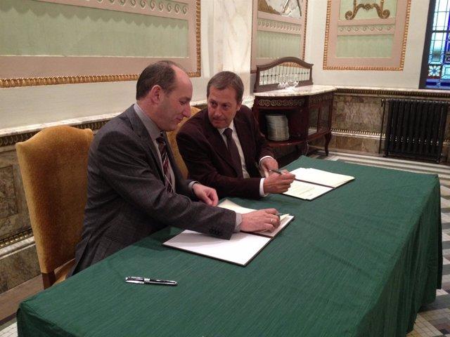 José Antonio Alayeto y Fernando Marcén.