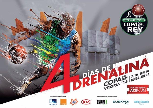 Cartel Copa del Rey de baloncesto de Vitoria 2013
