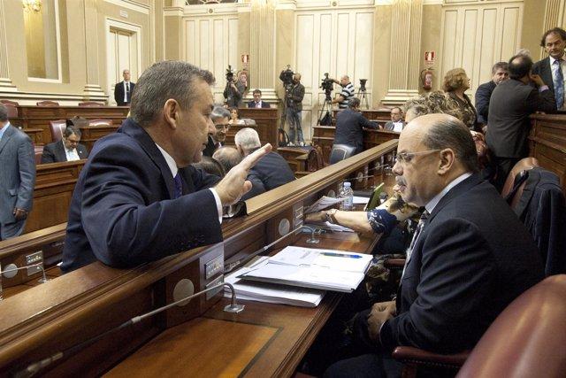 Pleno del Parlamento de Canarias sobre los presupuestos