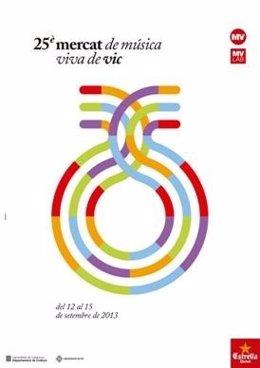 Cartel del Mercat de Música Viva de Vic