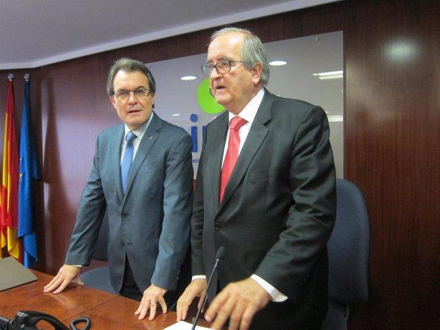 Artur Mas y Josep González