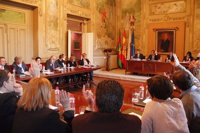 Votación en el Pleno del Ayuntamiento de Torrelavega