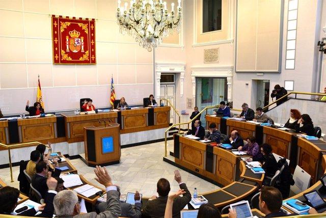 Pleno de la Diputación de Alicante aprobación de presupuestos 2013