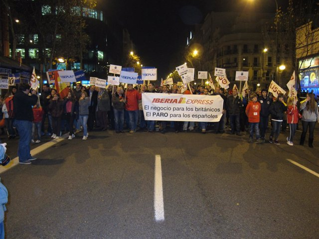 Manifestación trabajadores Iberia