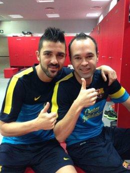 David Villa y Andrés Iniesta