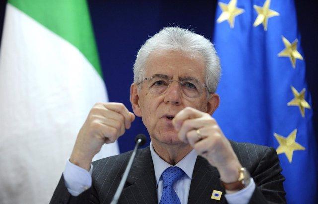 Mario Monti Tras El Consejo Europeo