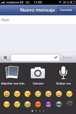Facebook Messenger añade mensajes de voz