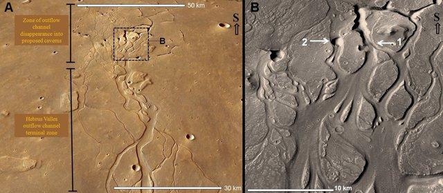 Imagen de los canales de Marte