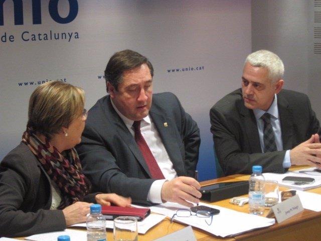 Marta Llorens, Josep Maria Pelegrí y Antoni Font, UDC