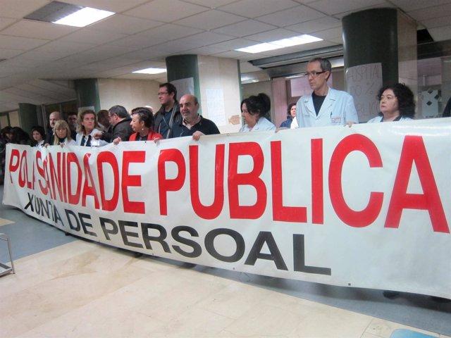 Encierro en hospital de Vigo