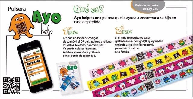 La empresa Jewel QR ha lanzado la pulsera infantil 'Ayo Help'