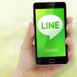 Imagen de móvil con Line