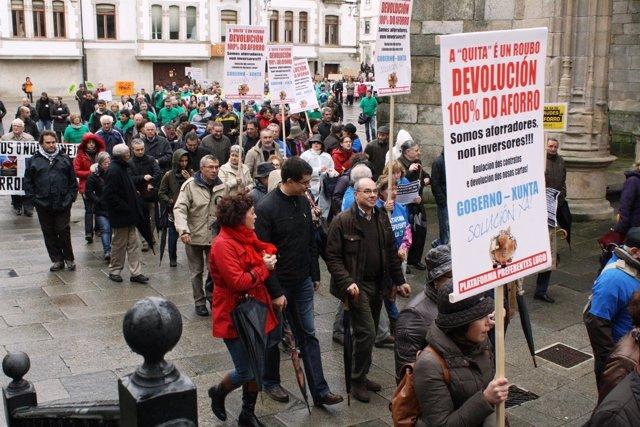 Manifestación de afectados por las preferentes en Lugo