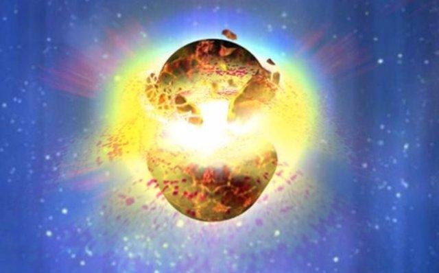 Explosión de una estrella de neutrones