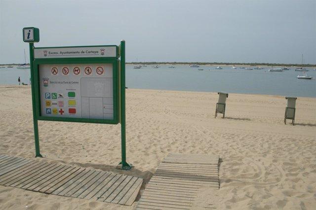 Imagen De La Playa De Cartaya.