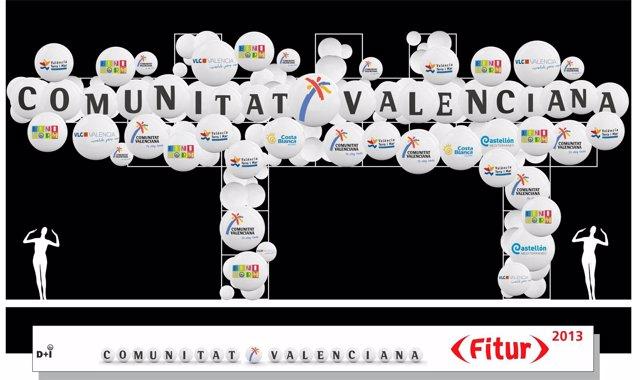 Stand de la Comunitat Valenciana en Fitur 2013.