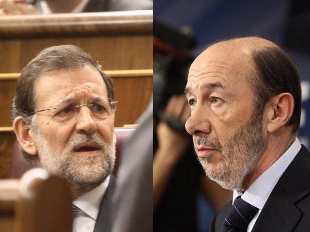 Montaje De Rajoy Y Rubalcaba