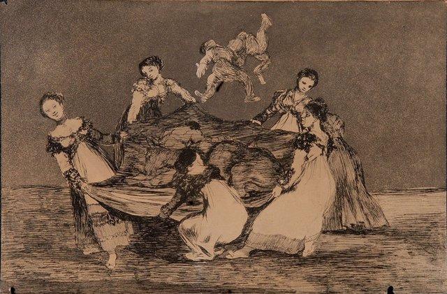 Estampas de Goya halladas en la Masia d'en Cabanyes de Vilanova