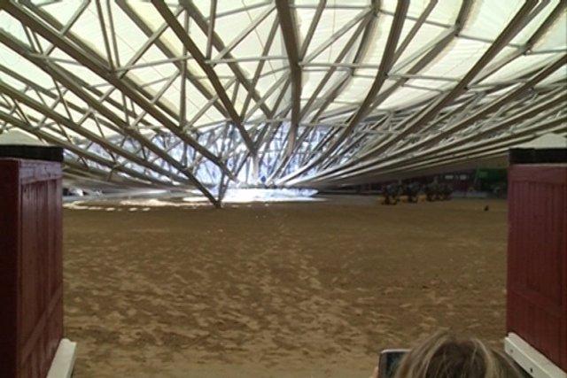 Se desploma la cubierta de la plaza de Las Ventas