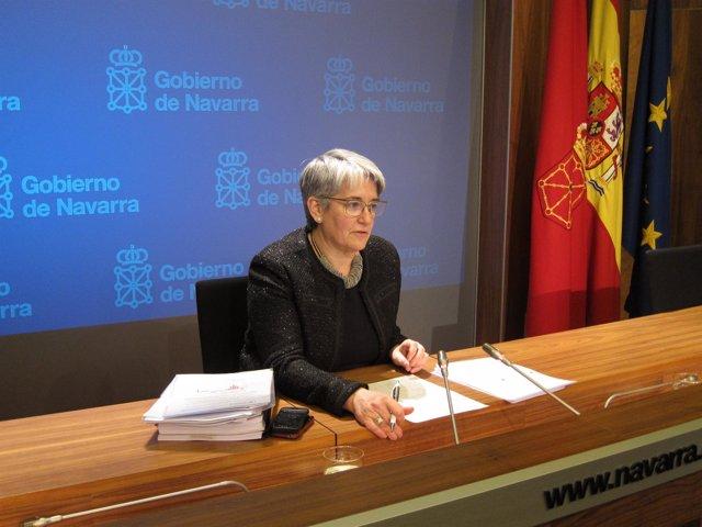 La vicepresidenta Lourdes Goicoechea.