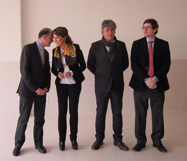 Yolanda Barcina y Alberto Catalán, en Arguedas.