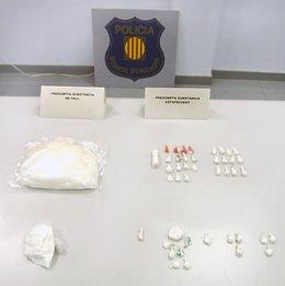 Cocaína decomisada en dos pisos de Berga