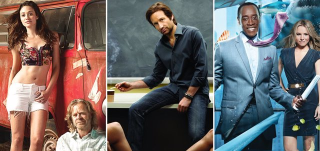 Montaje 'Californication', 'House of Lies' y 'Shameless'