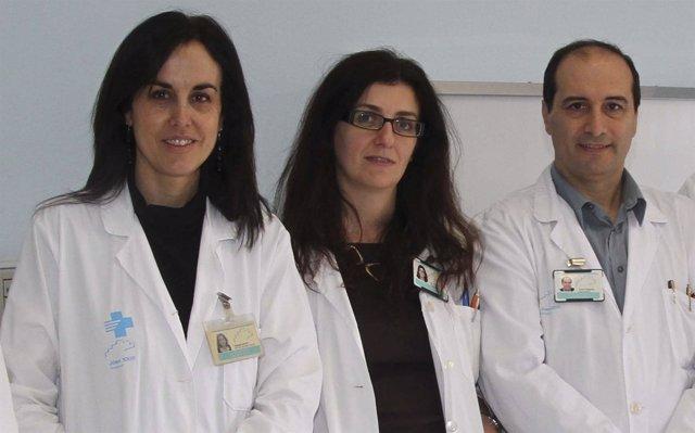 Doctora Y.Royo, doctora I. di Crosta y jefe de Cirurgía Pediátrica, J.Maldonado