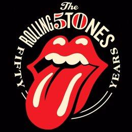 Logo que conmemora los 50 años de los Rolling Stones